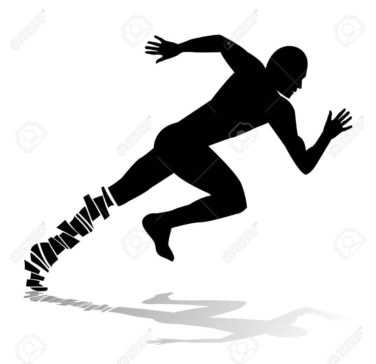 走っている人の抽象的なシルエットのイラスト素材ベクタ Image 31395560