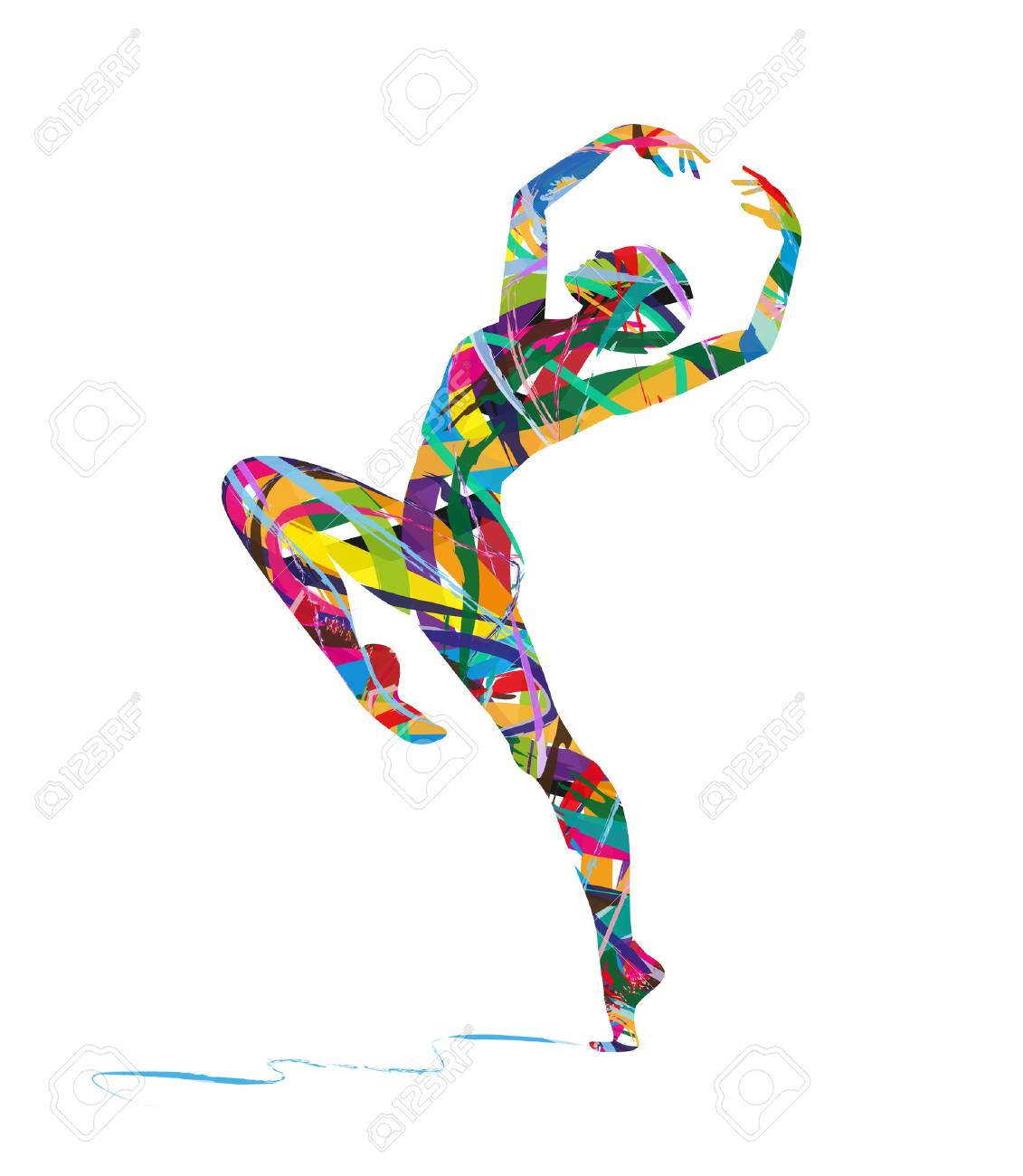 abstract dancer silhouette - 40812039