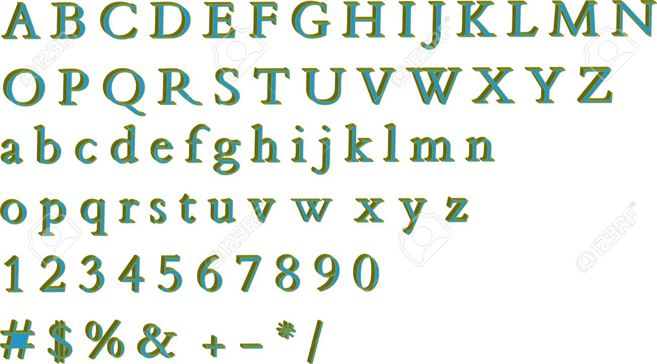 Pattern alphabet set vector,card, banner, abstract. - 146597477