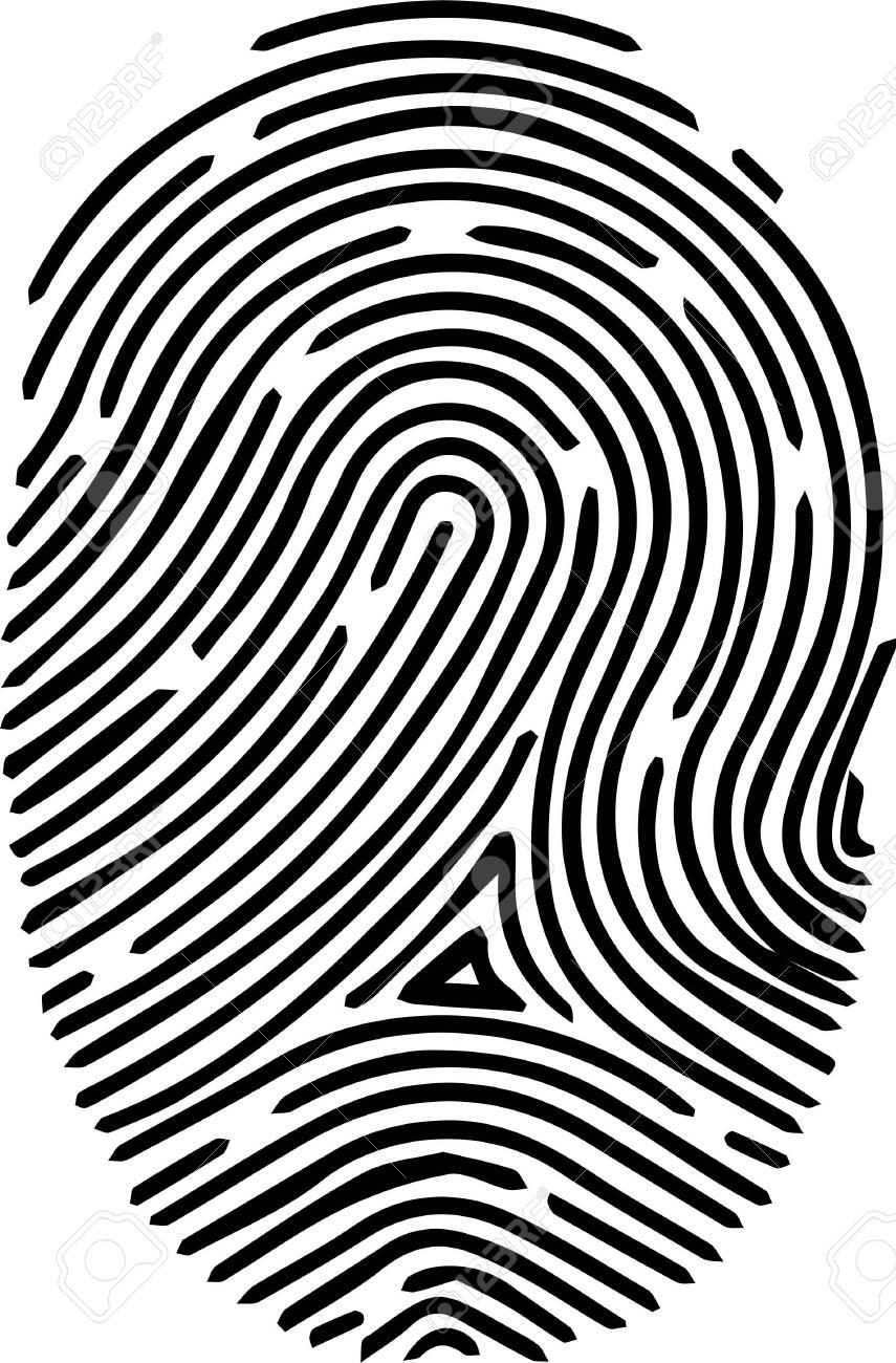 finger print icon on white background - 147898411