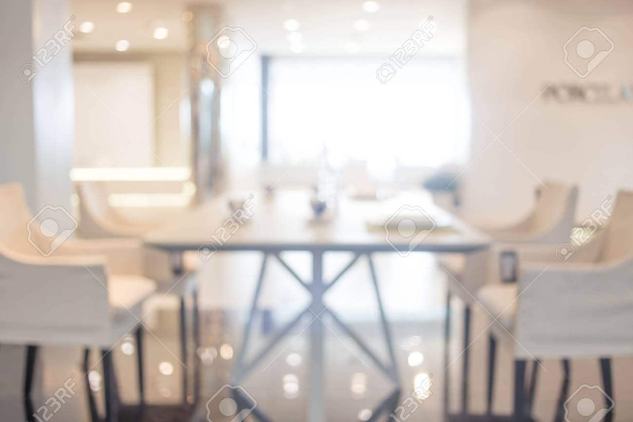Blur Dining Room Background, Product Display. Stock Photo   60497091