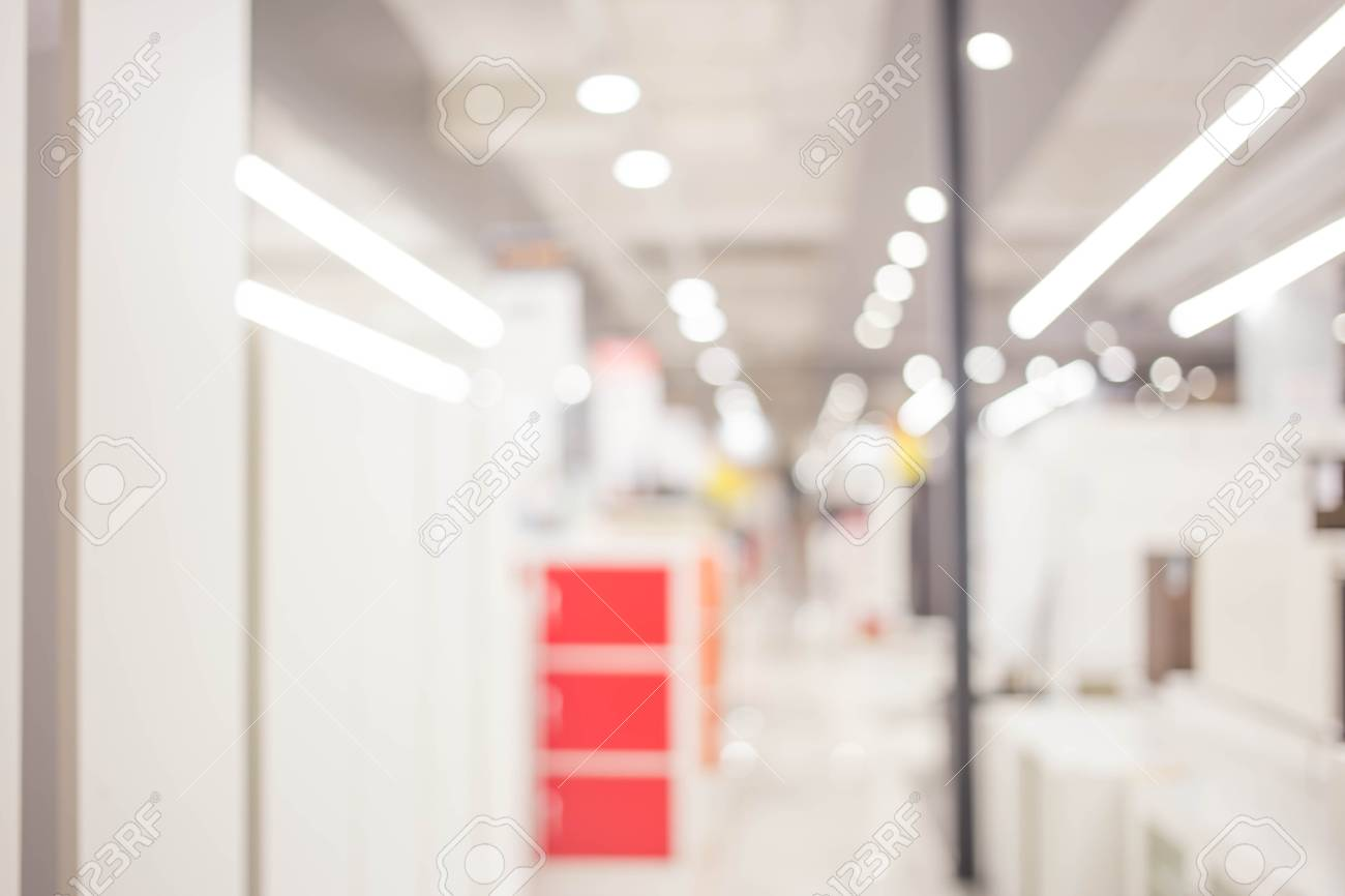 Blur Modern Office With Bokeh For Background Usage Stock Photo