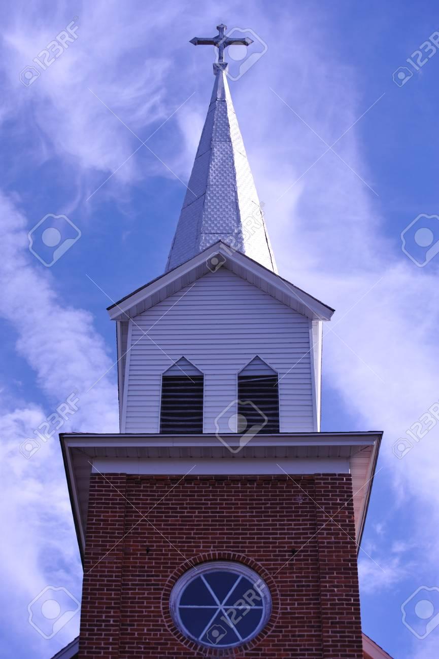 Church Steeple - Wisconsin Stock Photo - 8240593