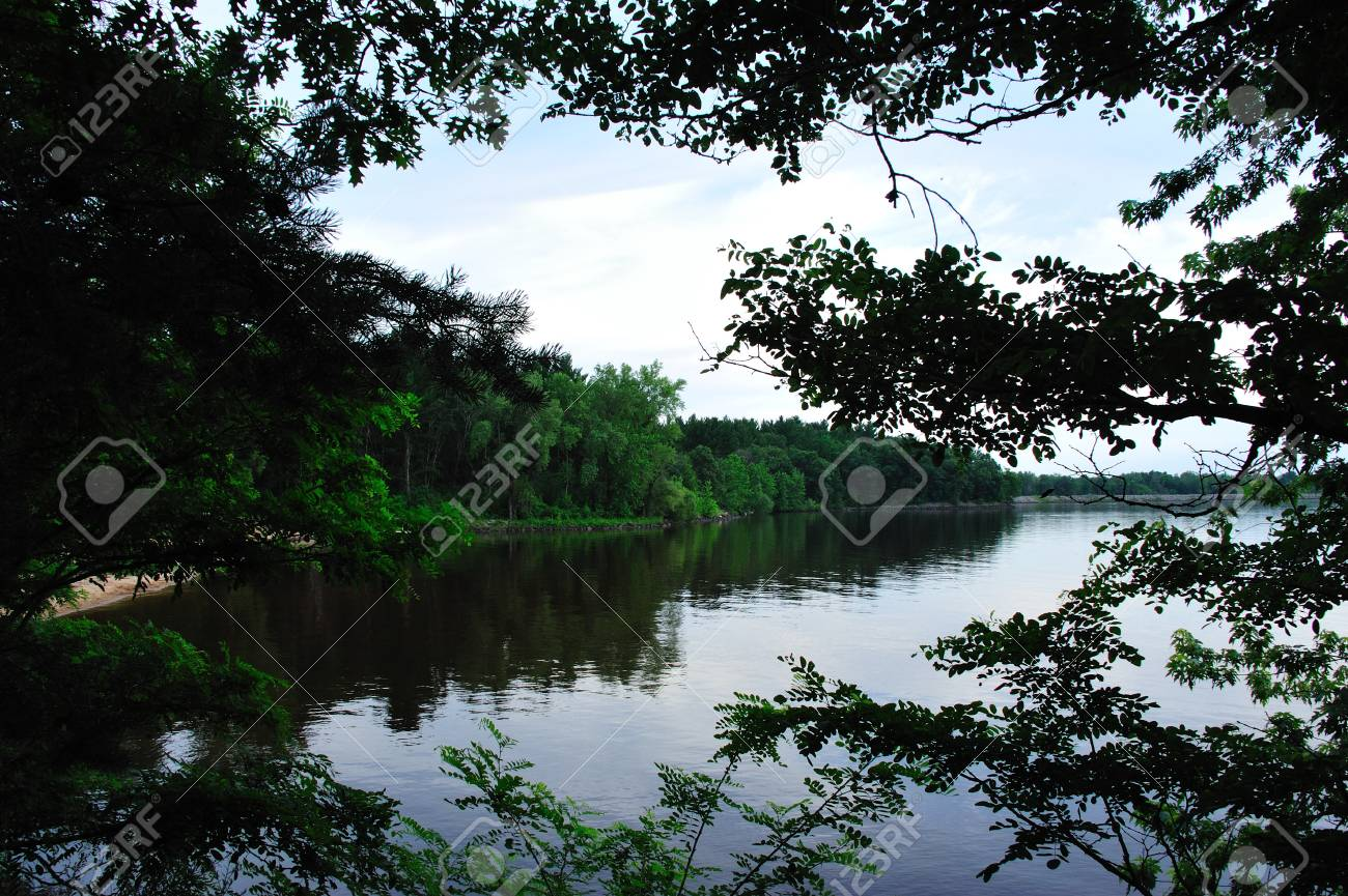 Cool Water Window to Lake Petenwell, Wisconsin Stock Photo - 14292883