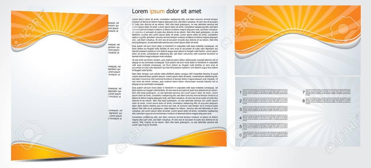 abstract brochure in orange Stock Vector - 9085977