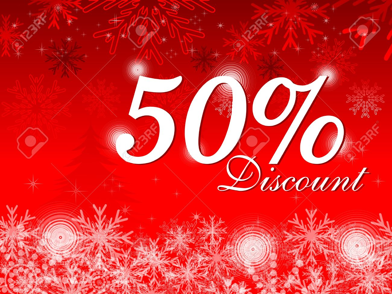 Abstract Christmas Discount Card Vector Illustration Royalty Free ...