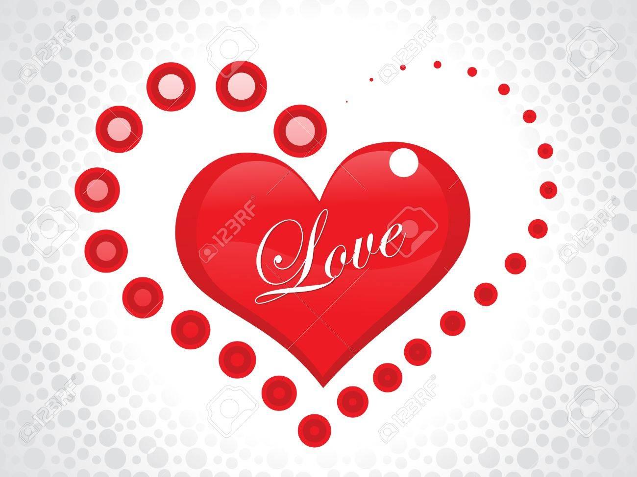 Abstract Love Wallpaper Vector Illustration Royalty Free Cliparts