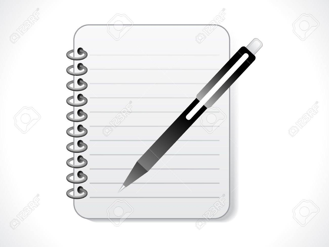 Pencil Paper Icon Vector - abstract notepad icon