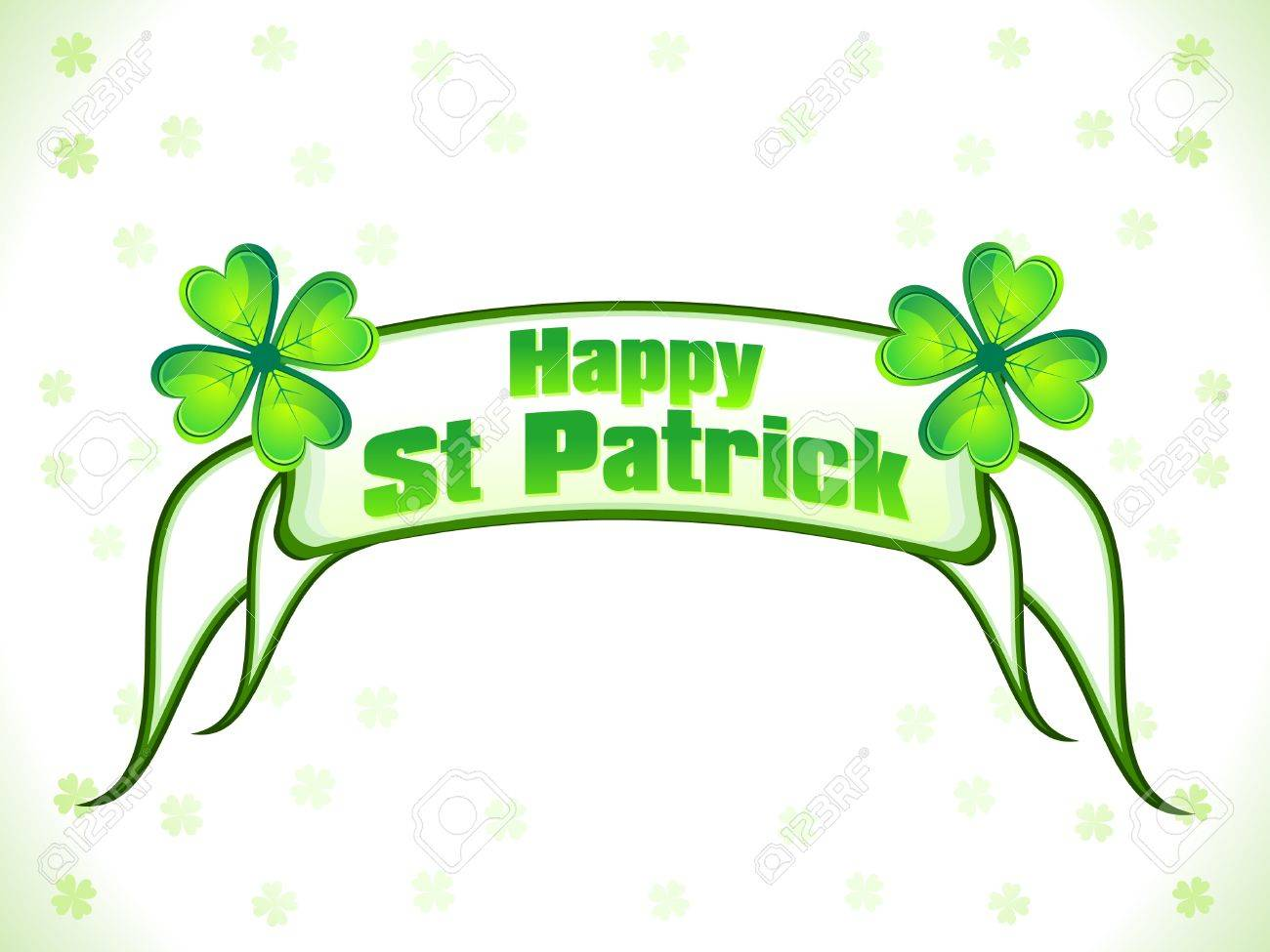 abstract st patrick ribbon background vector illustration Stock Vector - 9301304