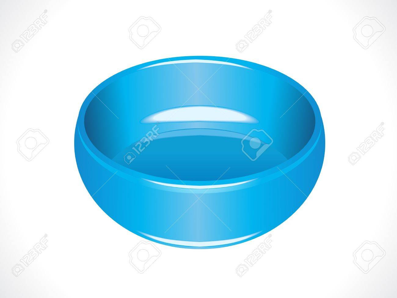 Plastic Glossy Blue Tub Vector Illustration Royalty Free Cliparts ...