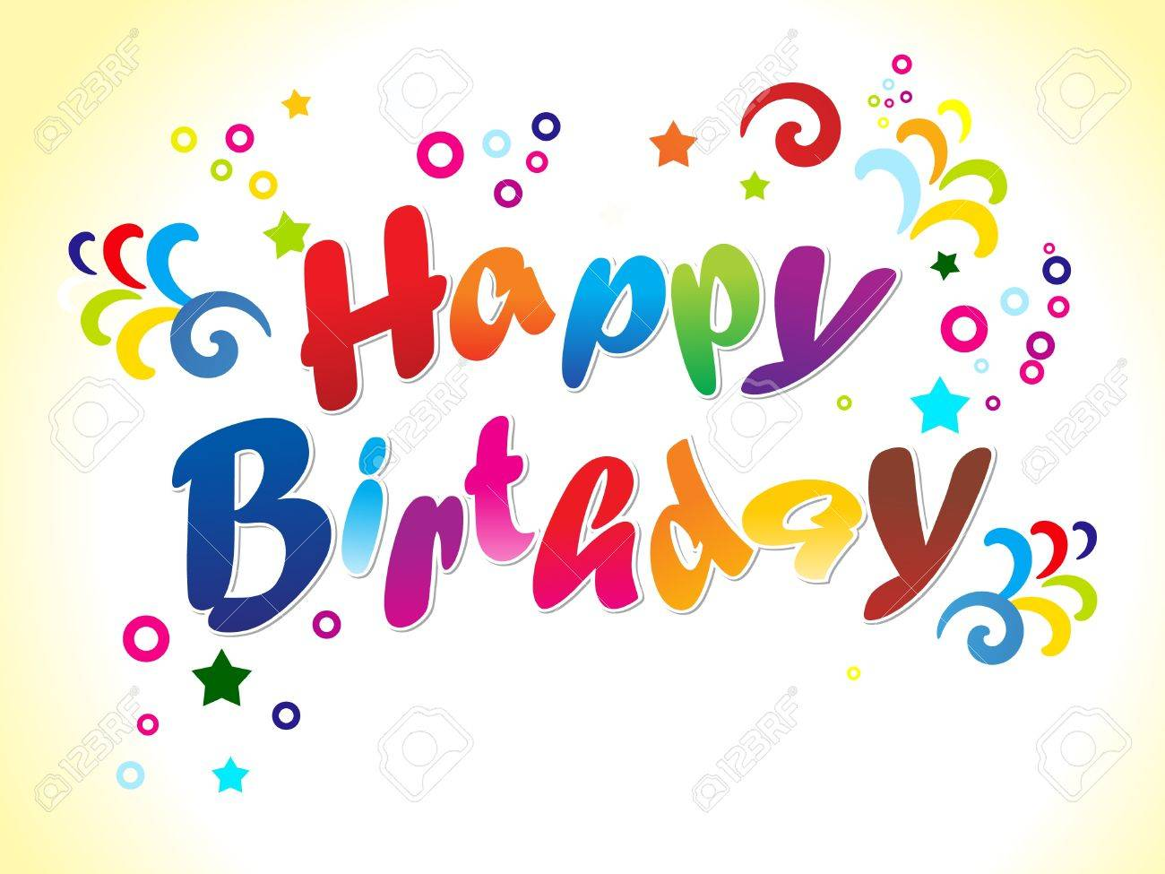 abstract birthday card with text vector illustration royalty free, Birthday card