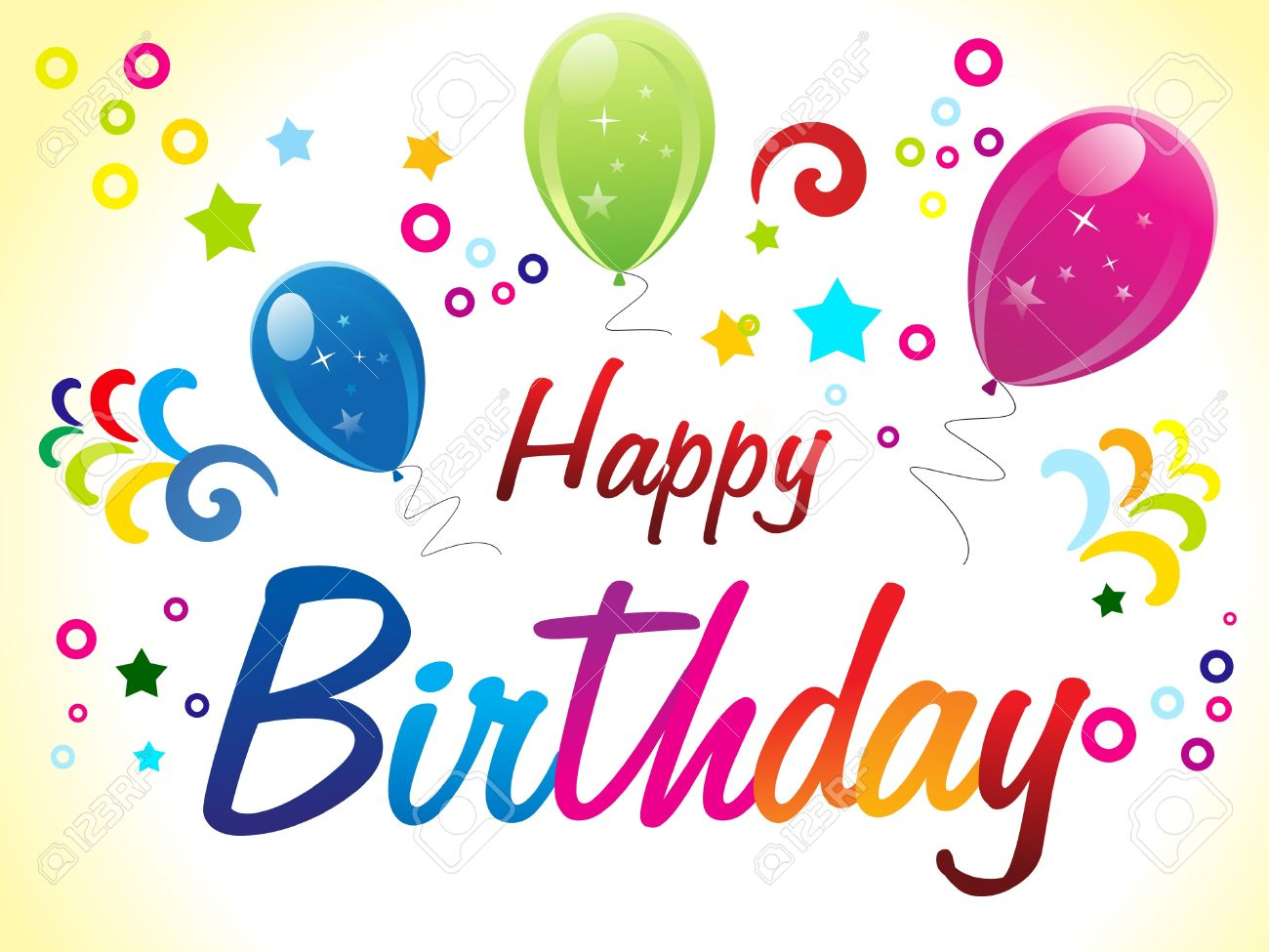 Abstract Birthday Card With Text Vector Illustration Stock