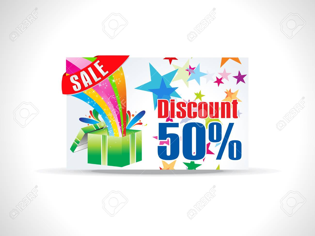 abstract magical discount card vector illustration Stock Vector - 9940936