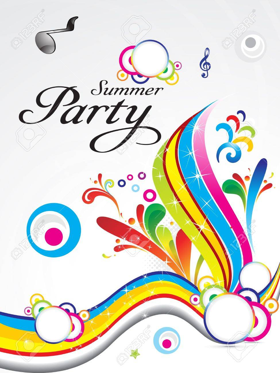 abstract summer party background concept vector illustration Stock Vector - 9941009