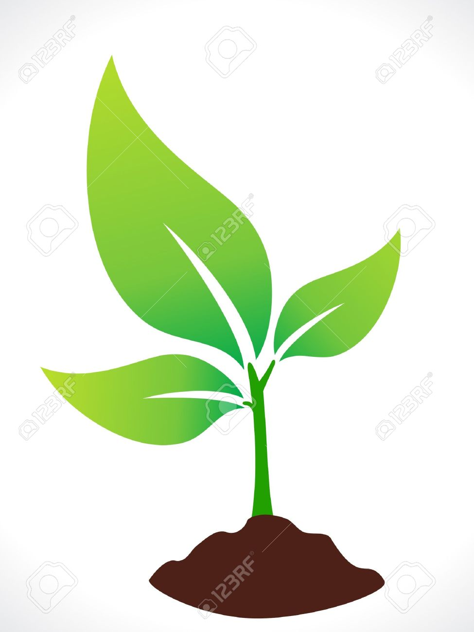 abstract eco green plant with soil vector illustration royalty free rh 123rf com plant vector png plant vector free
