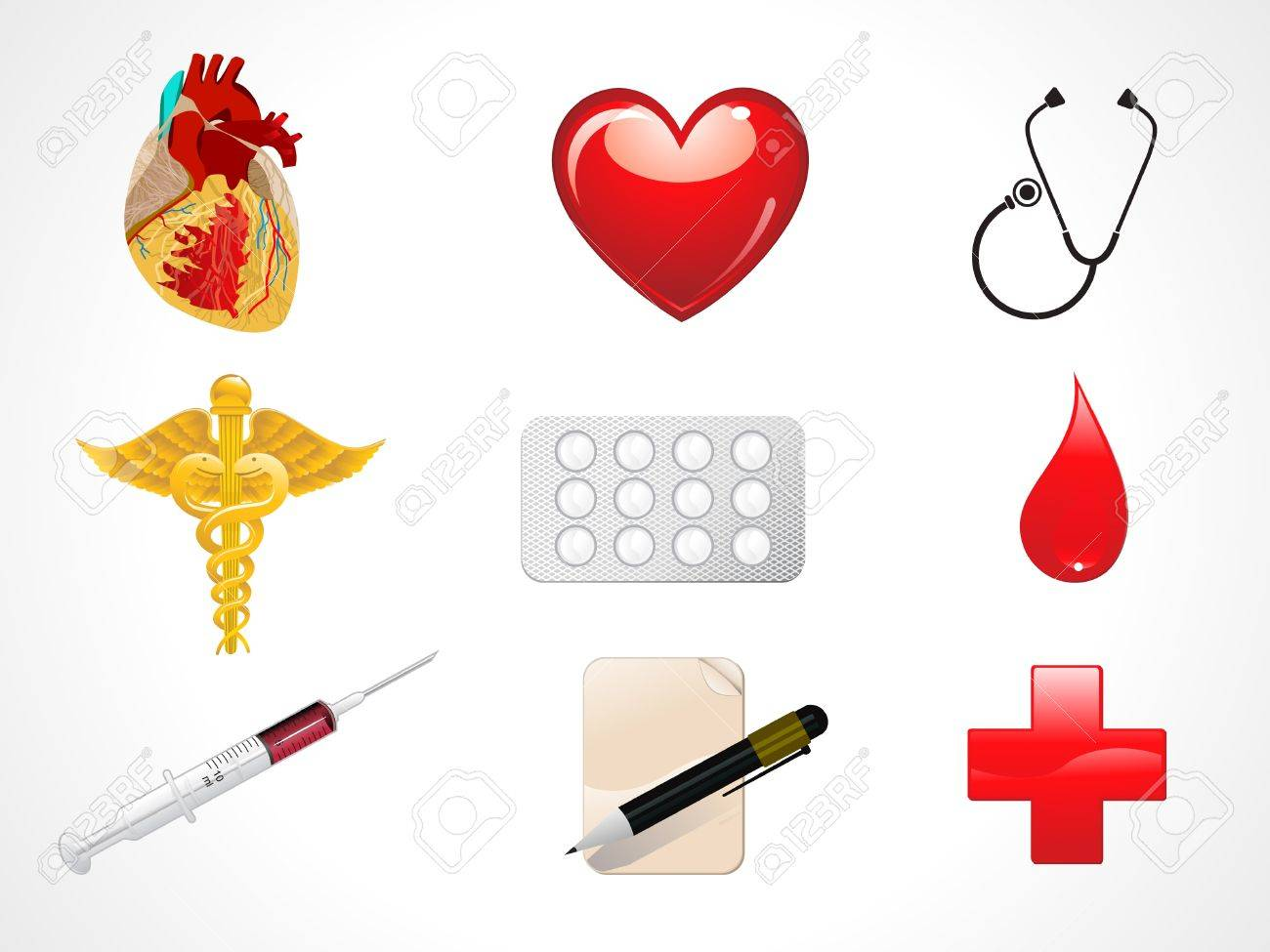 abstract medical icons vector illustration Stock Vector - 9941051