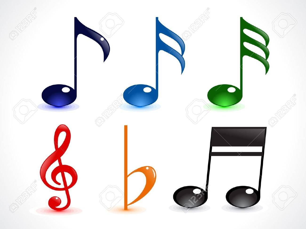 abstract colorful shiny musica word vector illustration Stock Vector - 9940871