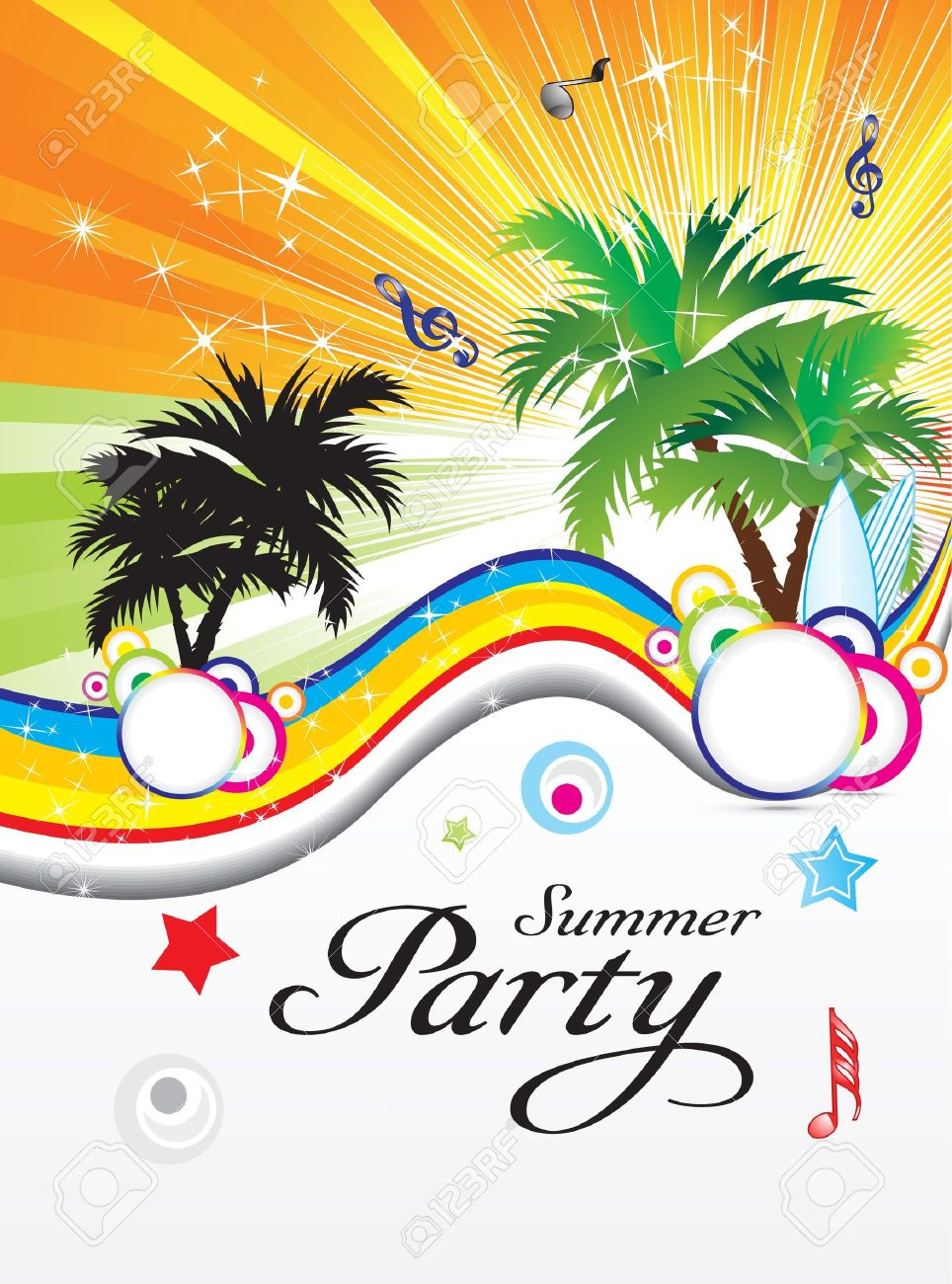 abstract summer party theme vector illustration Stock Vector - 9940991