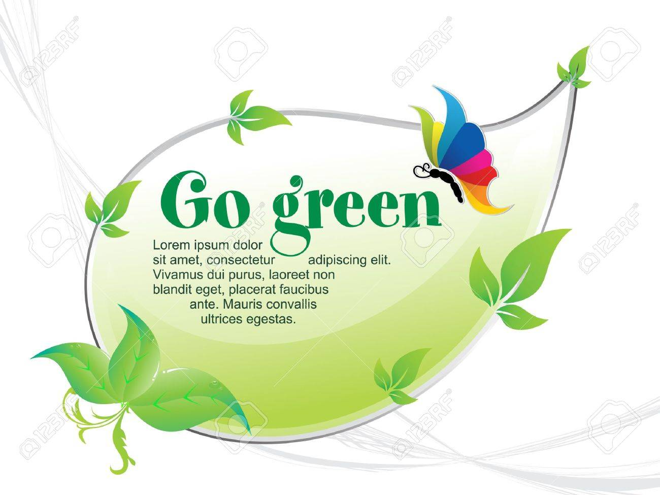 abstract go green background vector illustration Stock Vector - 10378328