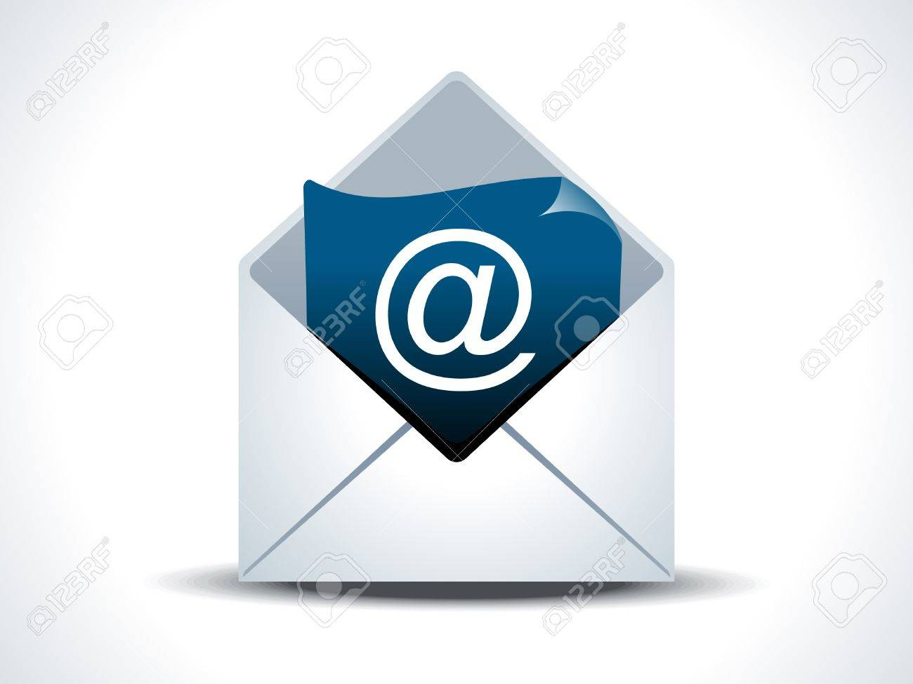 abstract mail icon vector illustration - 10431302