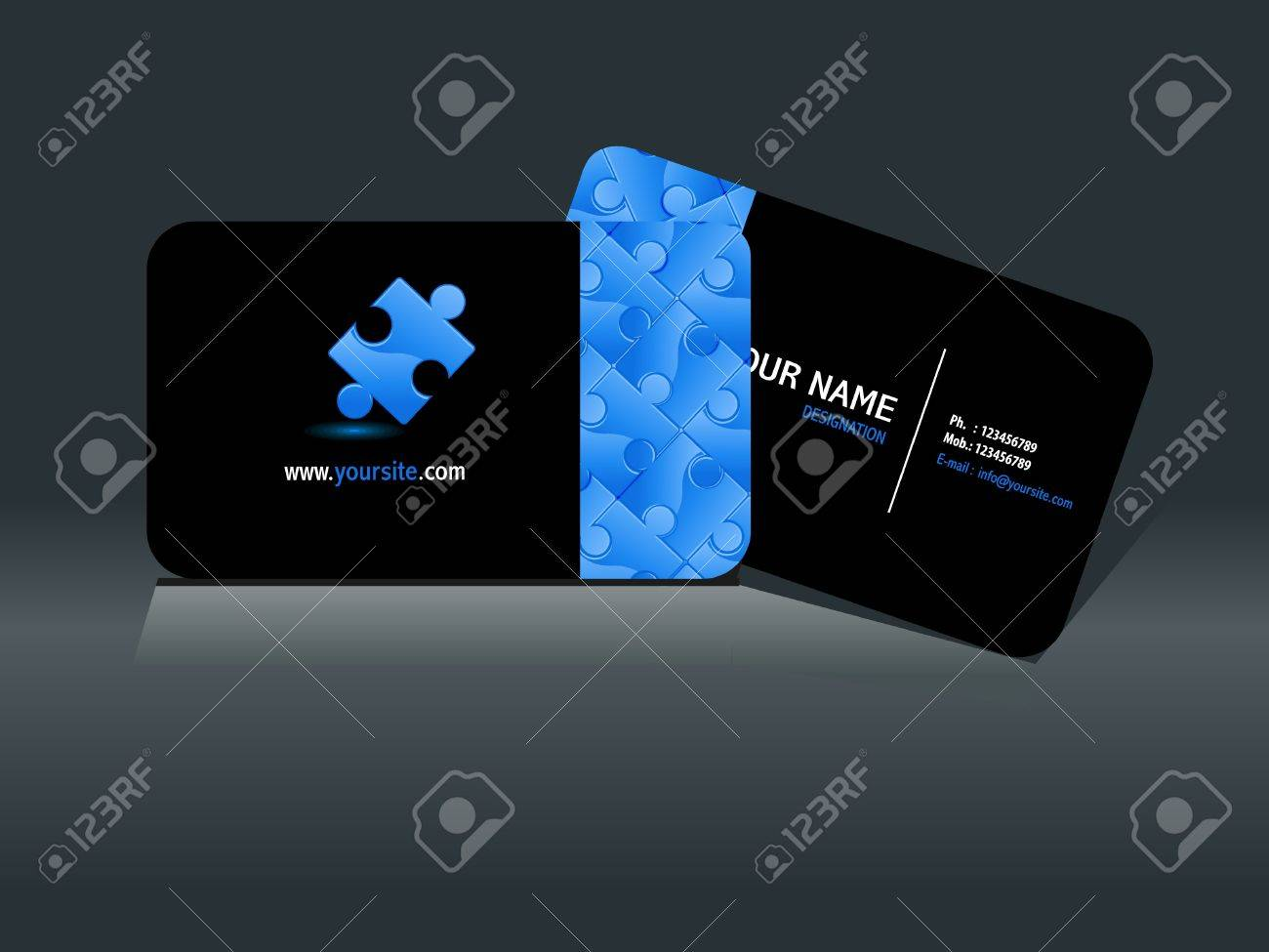 Abstract puzzle business card template vector illustration royalty abstract puzzle business card template vector illustration stock vector 10431318 colourmoves