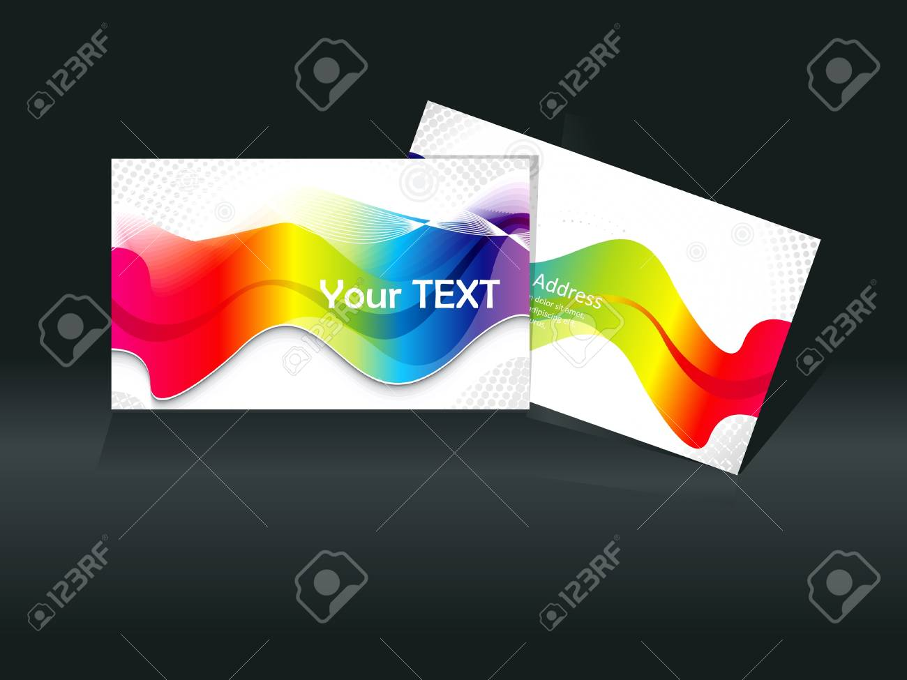 rainbow business card