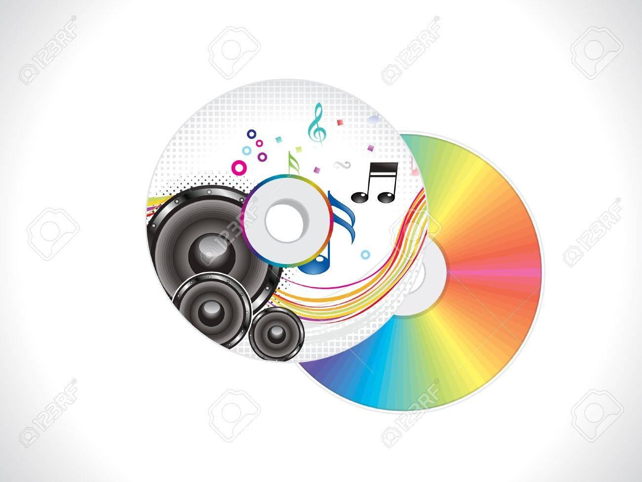 Abstracto De Colores Cubren CD Musical Plantilla De Ilustración ...