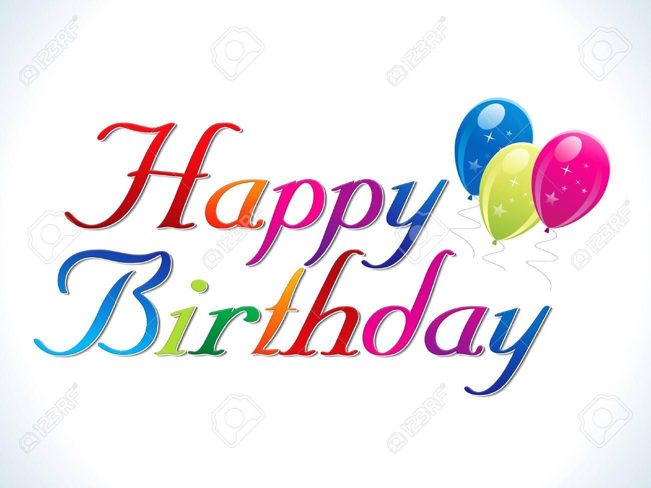abstract happy birthday template illustration Stock Vector - 11661801