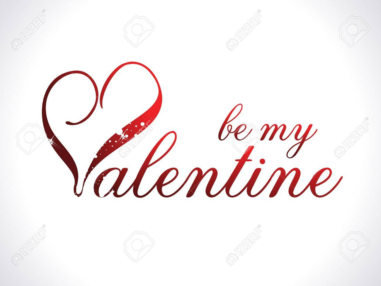Abstract Be My Valentine Template Illustration Royalty Free Cliparts ...