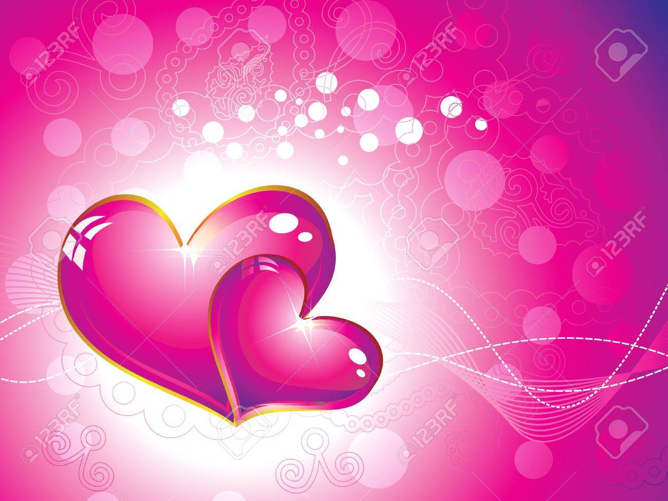 abstract pink heart wallpaper illustration royalty free cliparts