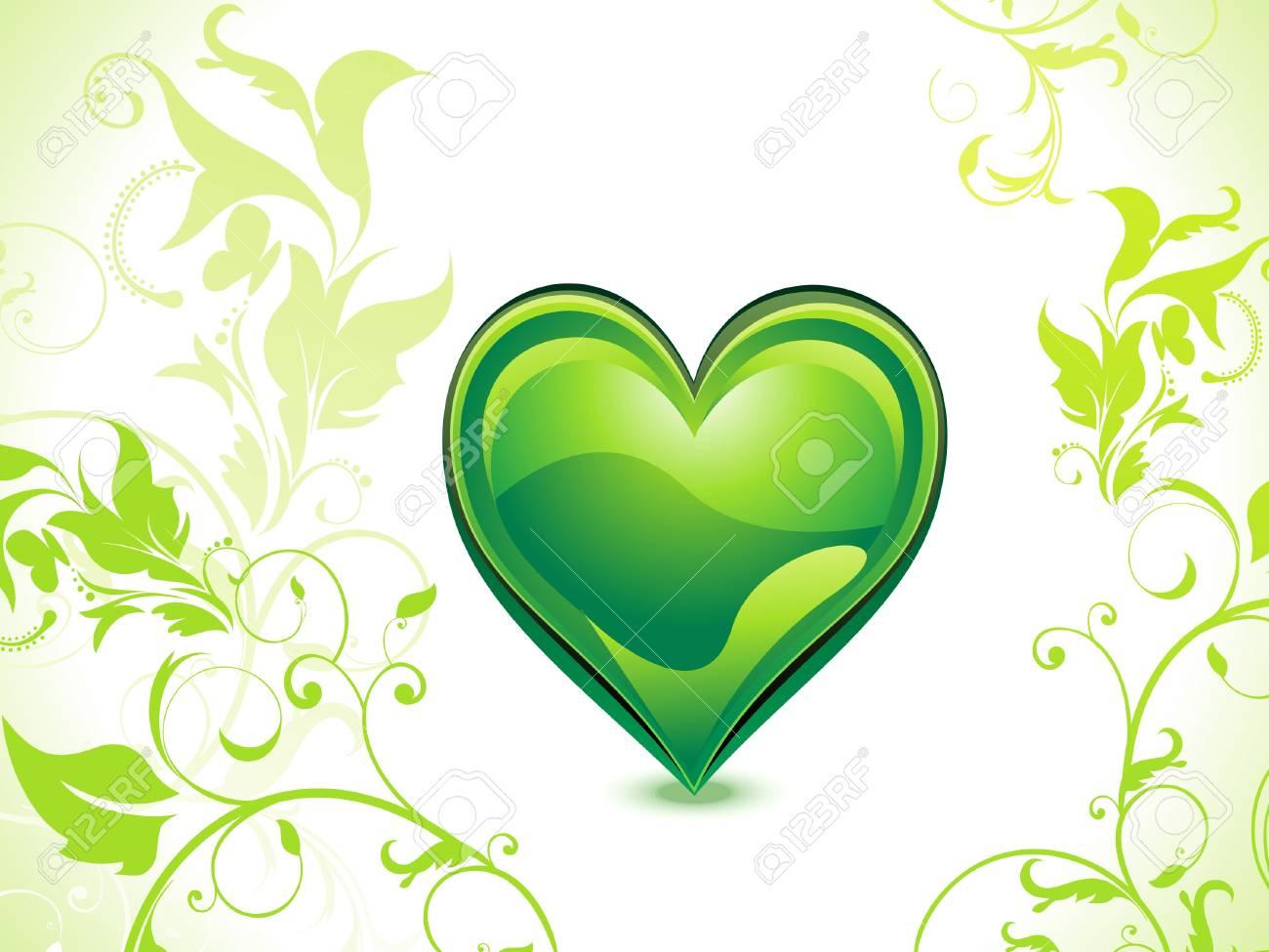 abstract green eco heart vector illusration Stock Vector - 12274328