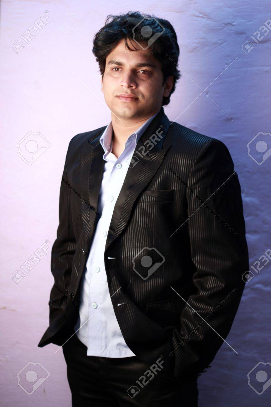 yong indian male model wearing formal suit Stock Photo - 12275130