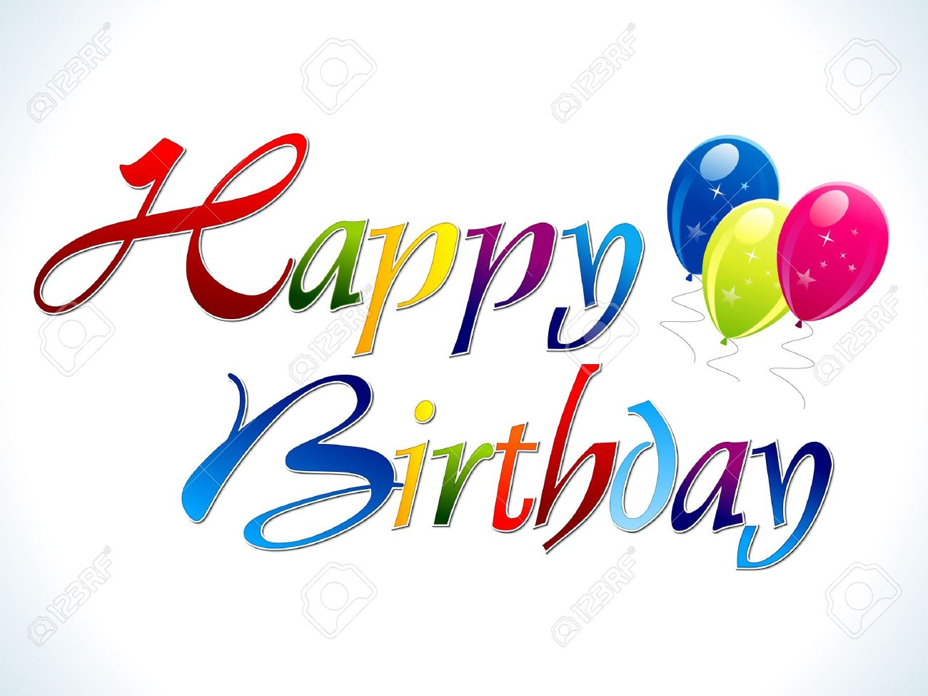 abstract colorful happy birthday text vector illustration Stock Vector - 12491086