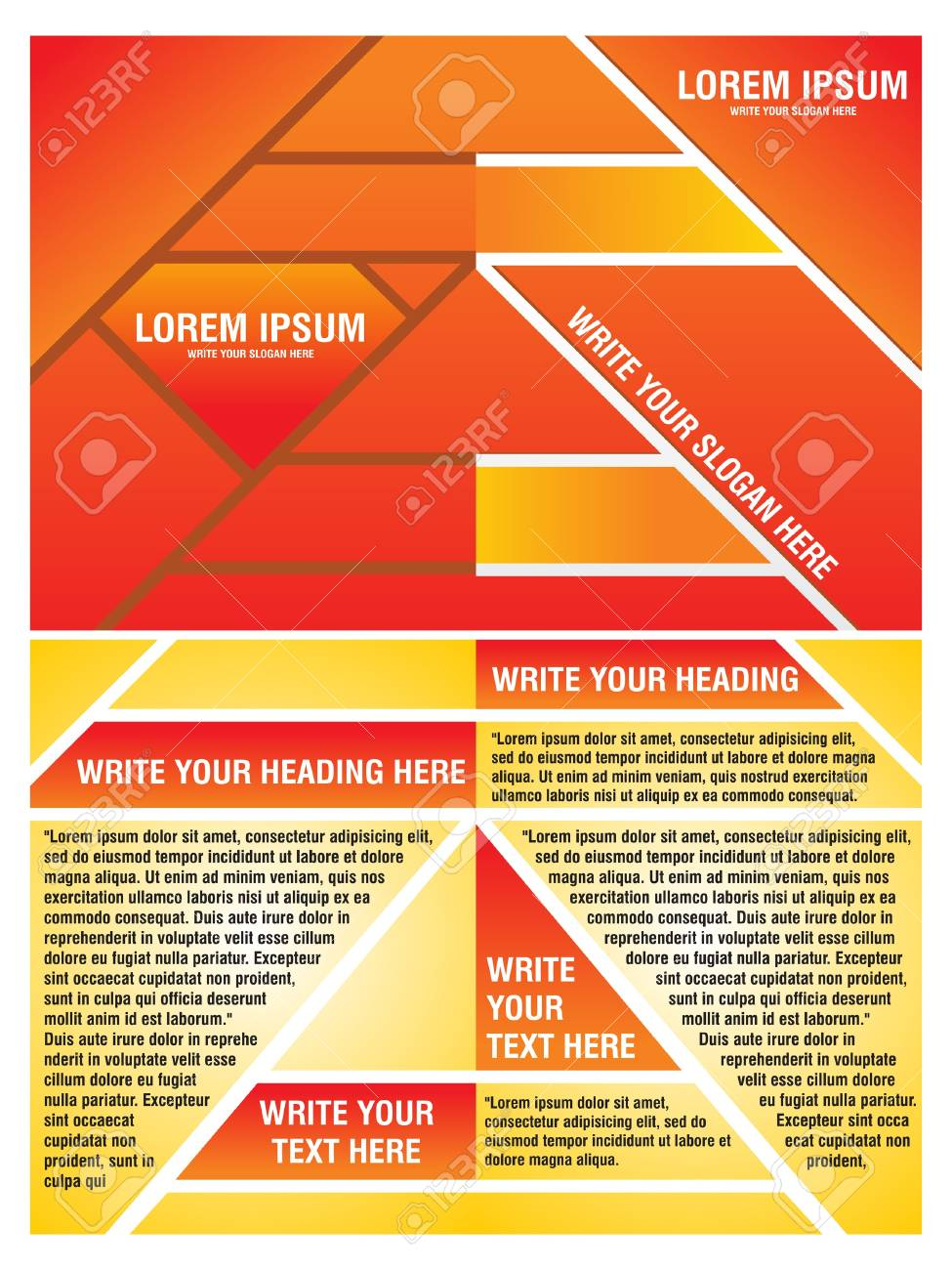 abstract orange corporate brochure template vector illustration Stock Vector - 12811228