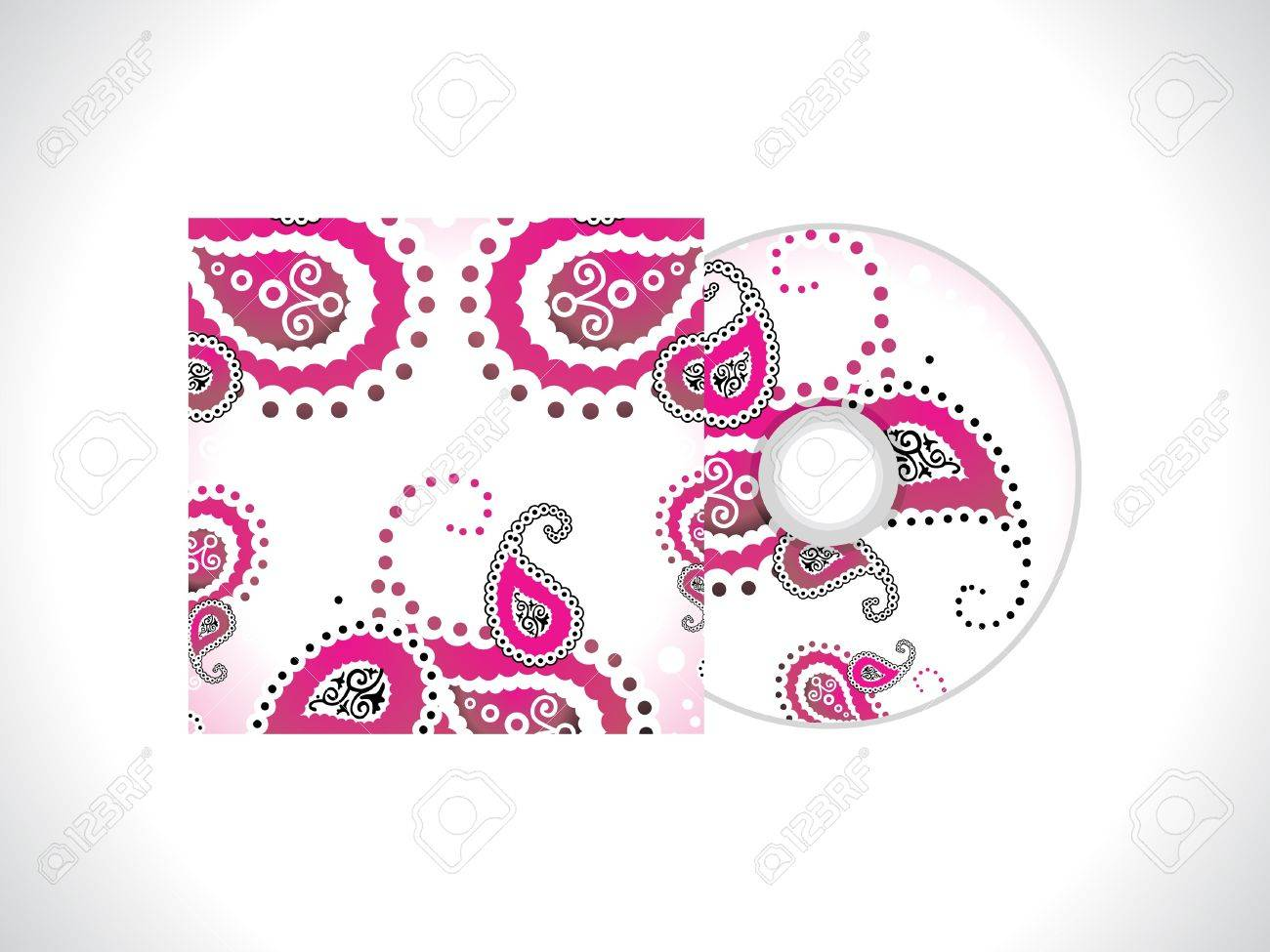 abstract floral cd template vector illustration Stock Vector - 12811241