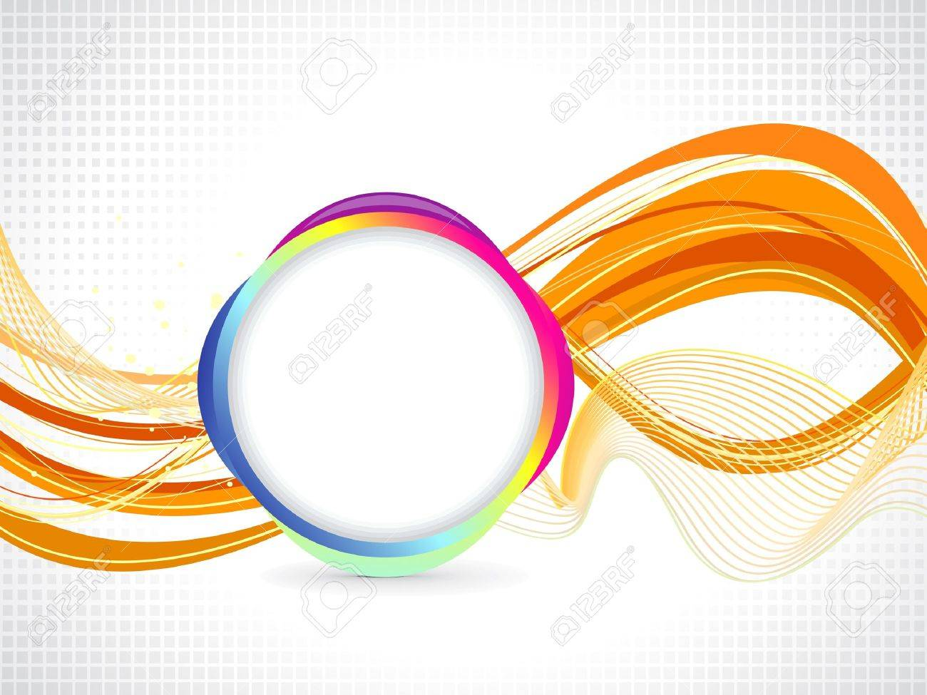 abstract orange based background illustration Stock Vector - 14087791