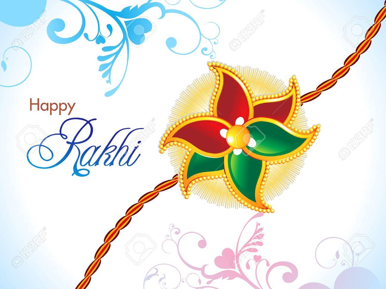 Abstract Raksha Bandhan Wallpaper Illustration Royalty Free Cliparts