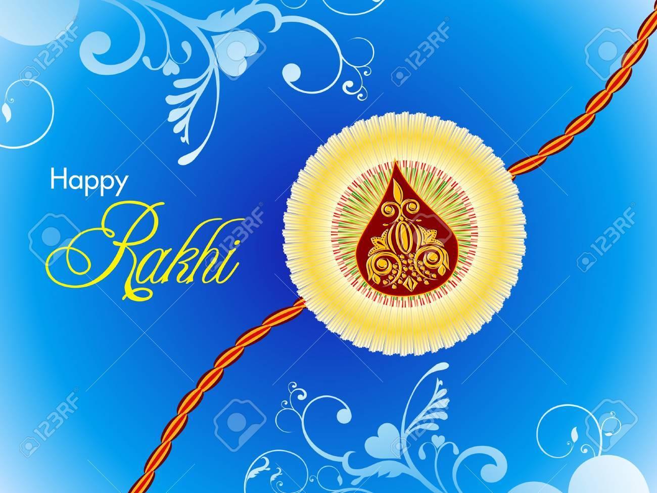 abstract raksha bandhan wallpaper illustration Stock Vector - 14210773