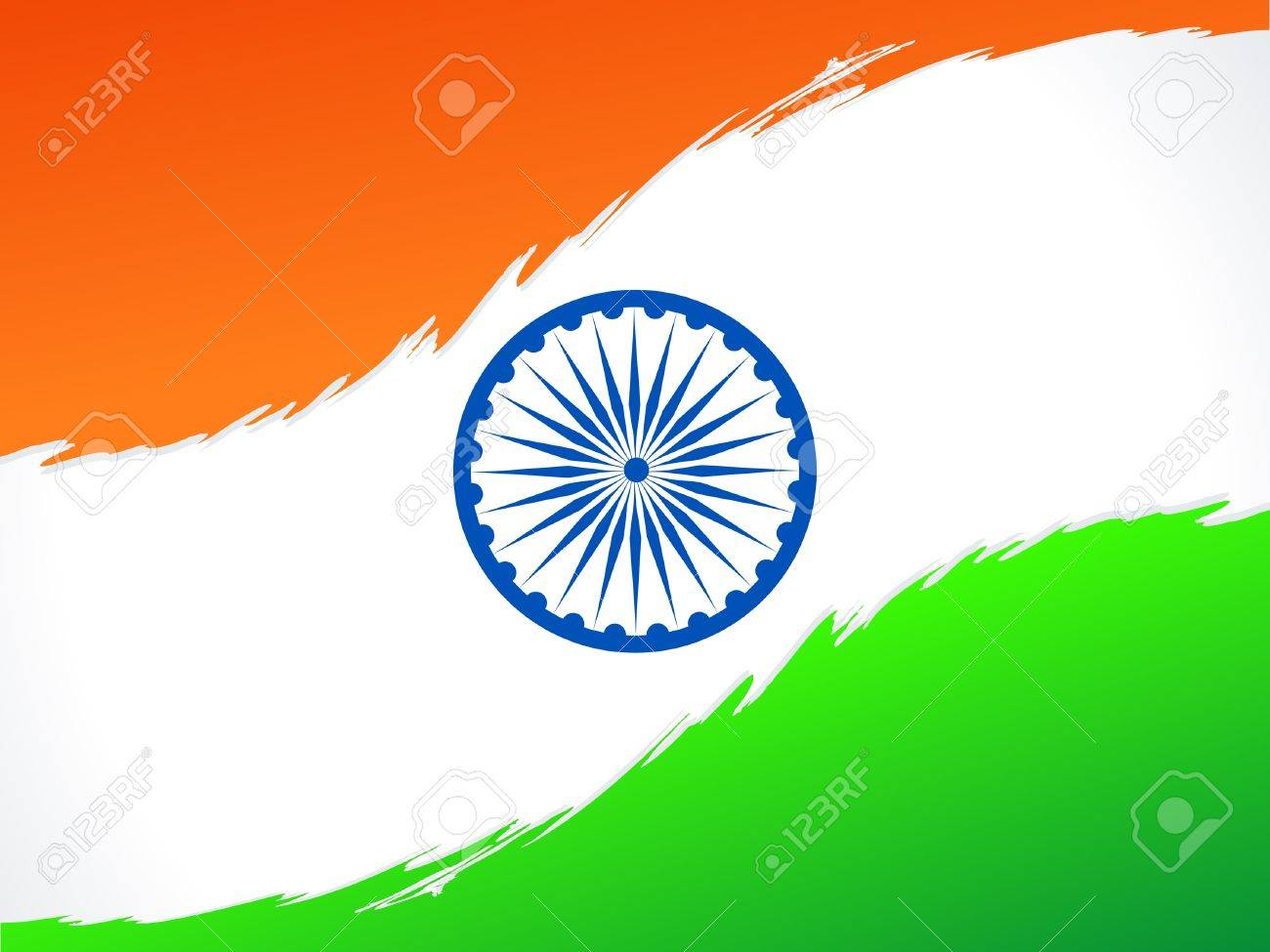 abstract indian flag illustration Stock Vector - 14402624