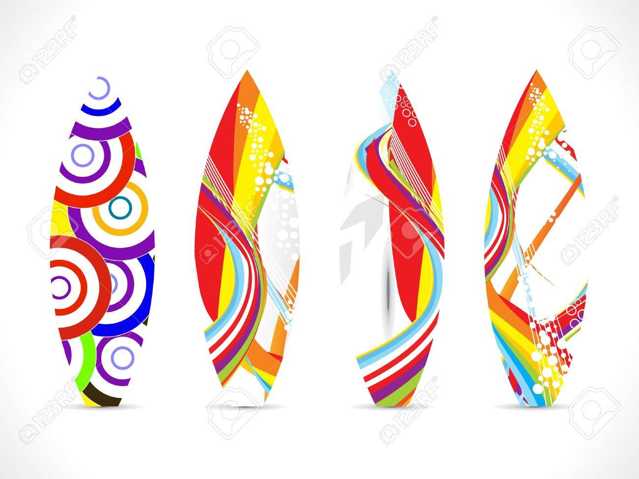 abstract colorful surf board template Stock Vector - 15446512