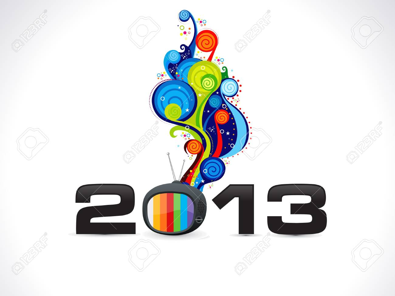 abstract new year wallpaper vector illustration Stock Vector - 15841935