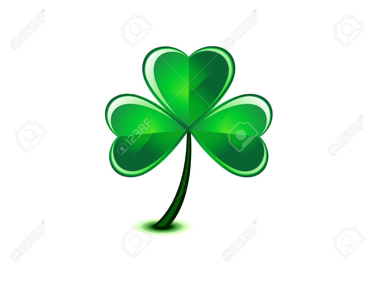 abstract st patrick clover Stock Vector - 17664698