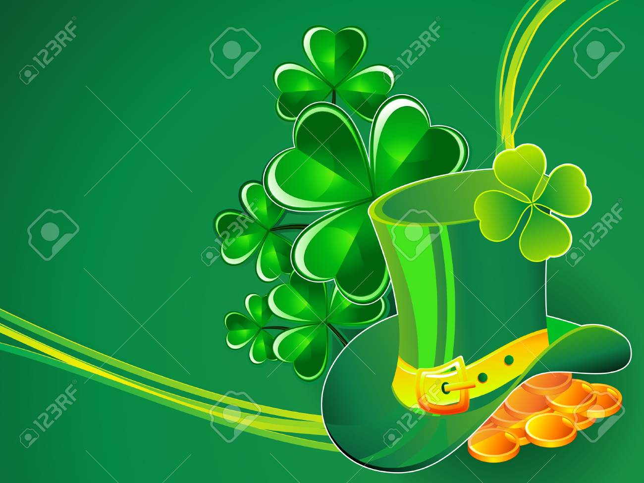 abstract st patrick background Stock Vector - 18072394