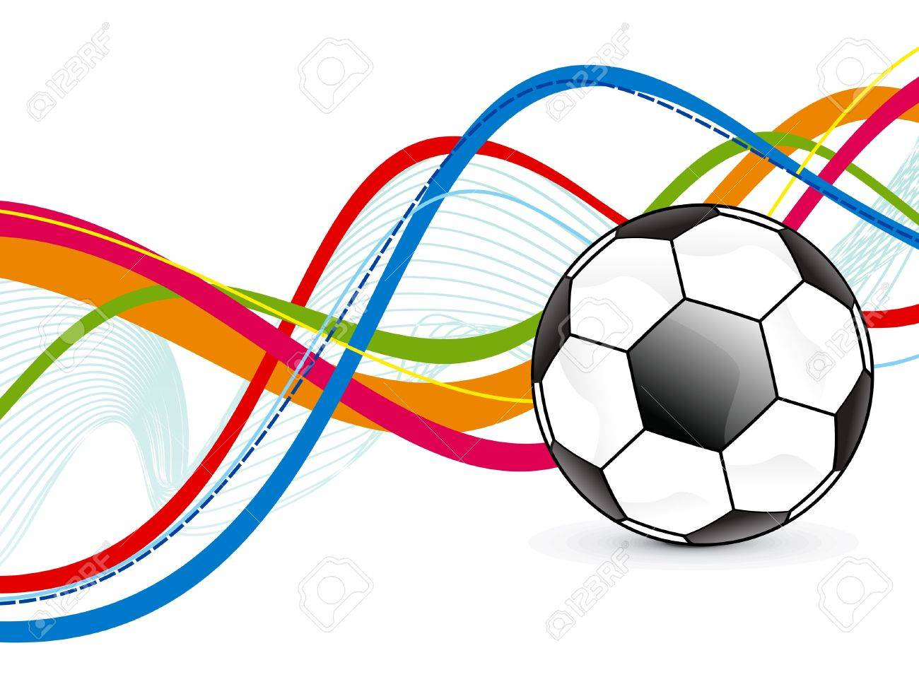 abstract colorful football background illustration Stock Vector - 18258108