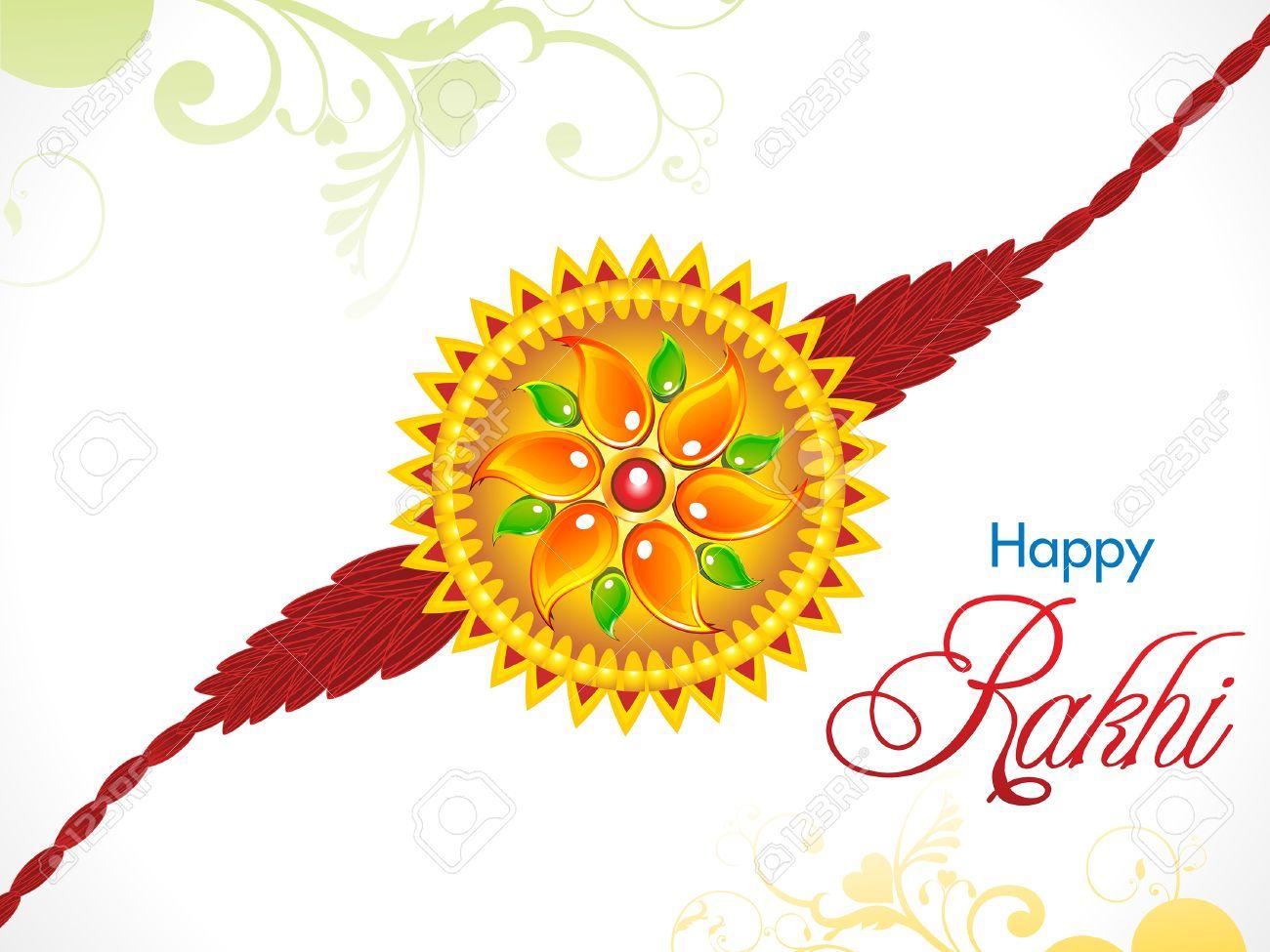Abstract Raksha Bandhan Rakhi Background Vector Illustration Royalty