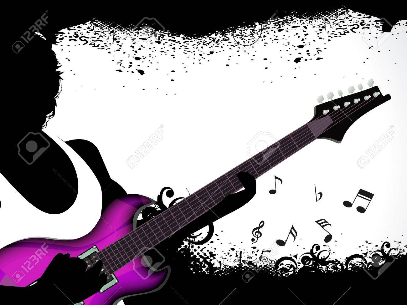 Pics photos rock concert background - Vector Abstract Grungy Rock Concert Background