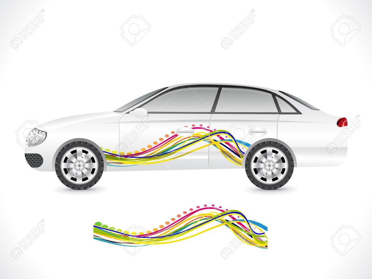 Sticker Sedan Abstract Sedan Car Sticker