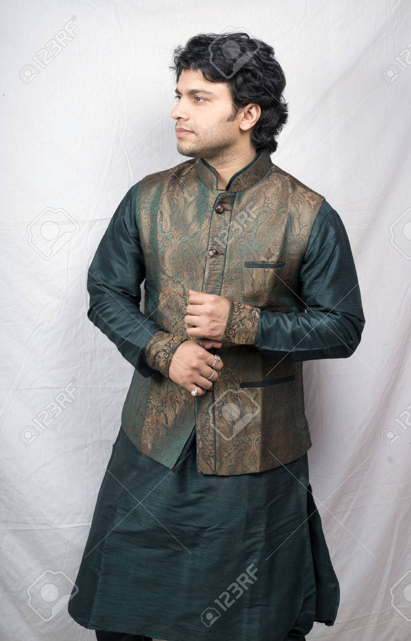 Young Male Model In Kurta Side Pose Stock Photo Picture And Royalty Free Image Image 77229329