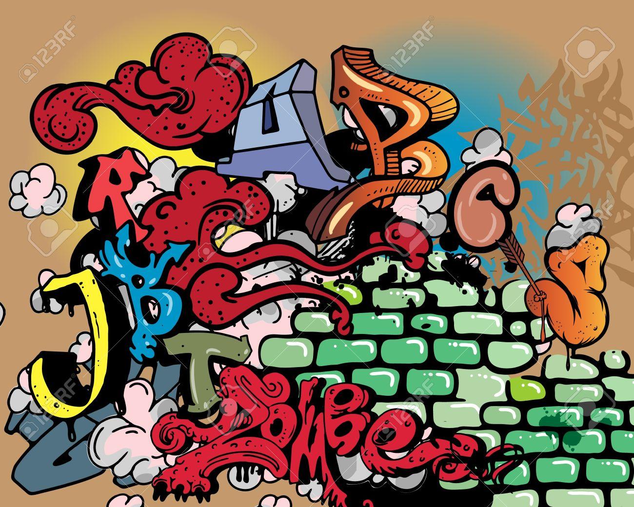 Graffiti wall clipart - Graffiti Wall Stock Vector 10637126