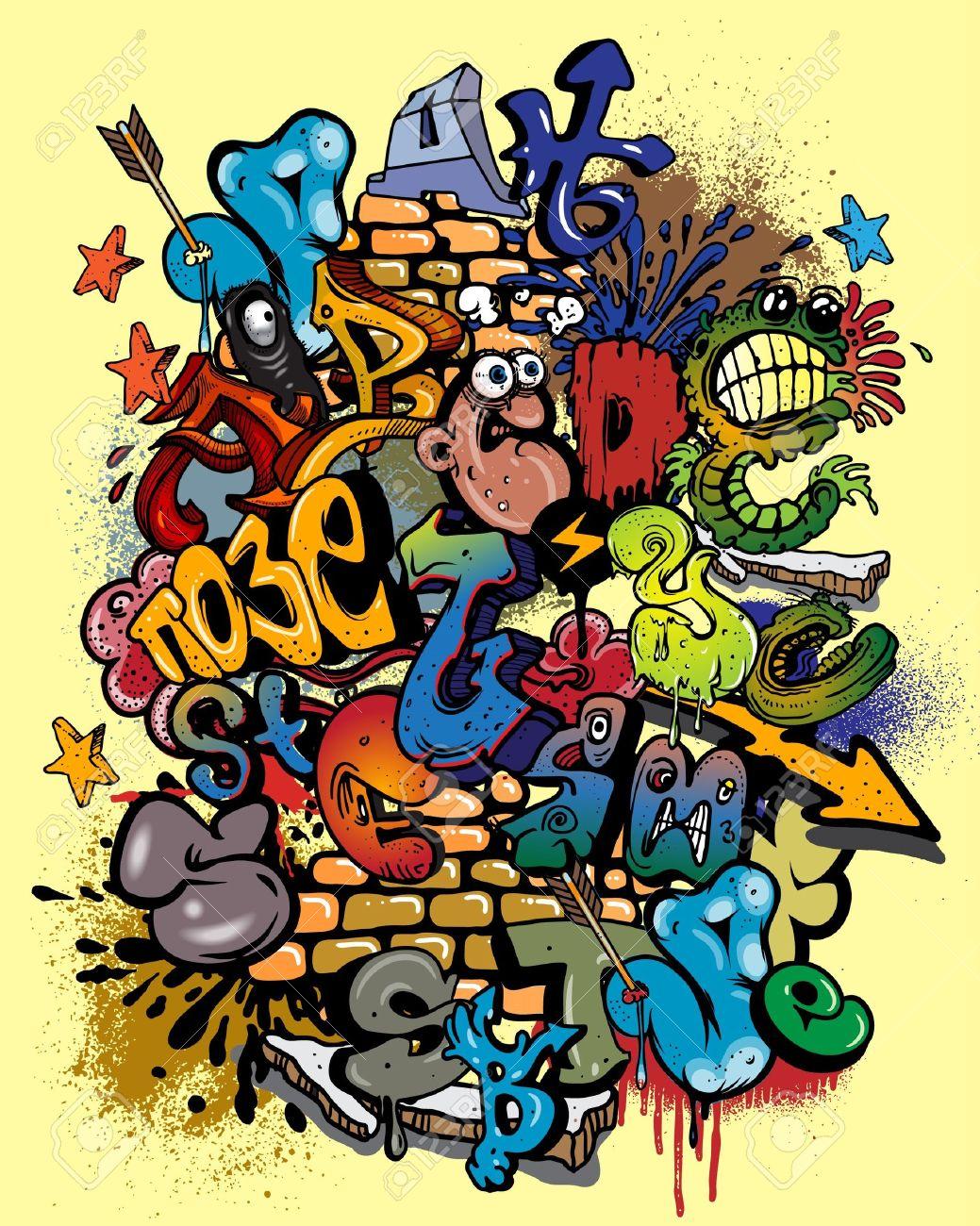 Graffiti alphabet. Stock Vector - 10637167